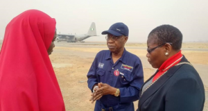 Aisha Yesufu and Oby Ezekwesili of BBOG join Lai Mohammed for the Sambisa Forest trip