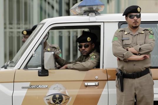 Saudi police on patrol