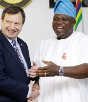 British High Commissioner, Paul Arkwright and Gov. Ambode