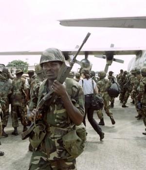 Nigerian reinforcements ECOMOG