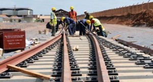 Standard gauge rail track