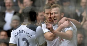 Spurs players celebrate trouncing of Stokes City