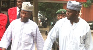 Prof. Abubakar Sulaiman and Muhammed Dele Belgore on their way to the court