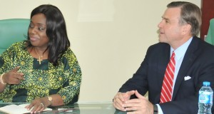Kemi Adeosun and US Ambassador to Nigeria, W. Stuart Symington
