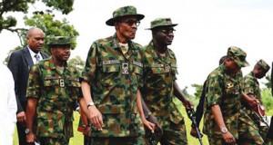 Buhari with Lt. Tukur Burutai and others