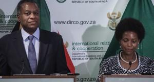 Geoffrey-Onyeama and South African foreign minister Maite Nkoana-Mashabane