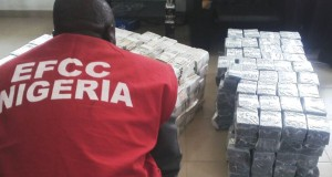 The money intercepted at the Kaduna Airport
