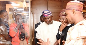 Gov. Ambode, Lai Mohammed and DG National Commission for Museums & Monuments, Mallam Yusuf Abdullah Usman