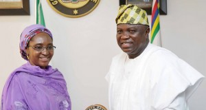 Minister of State for Budget & National Planning, Hajia Zainab Maina and Gov. Ambode