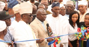 Ambode commissioning the new bus terminal