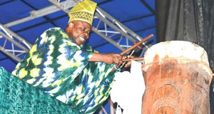 Gov. Amosun unveiling World's tallest drum