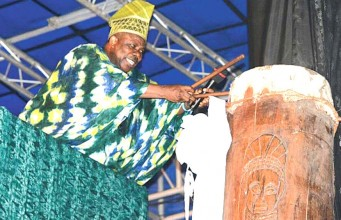 Gov. Amosun unveiling World's tallest drum
