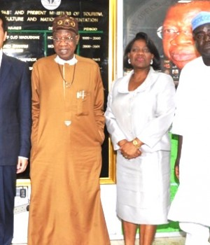 Chinese Ambassador to Nigeria, Zhou Pinson, meet with Lai Mohammed