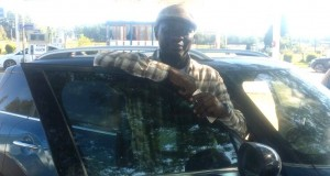 Laolu Olusina test-driving the Mini Countryman