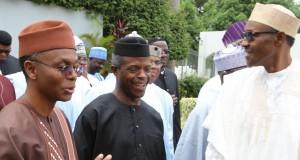 Gov. El-Rufai-Buhari, VP Osinbajo and President Buhari