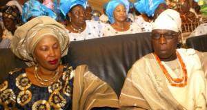 Obasanjo and wife, Taiwo