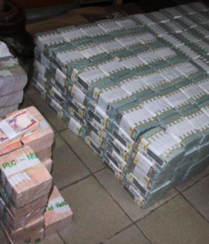 The money seized in Ikoyi house