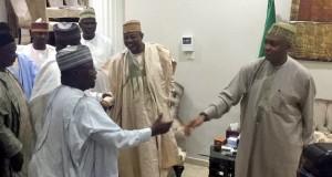 Gov. Shettima of Borno leads delegation to Saraki over Ndume's suspension