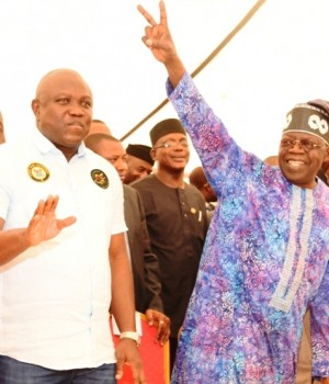 Tinubu and Ambode at the APC Congress