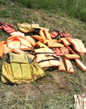 Abandoned life jackets
