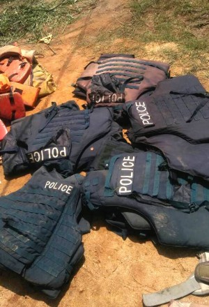 Abandoned Police uniforms