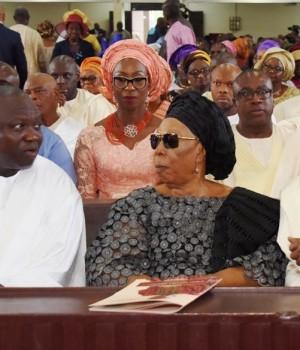 Gov. Ambode and Adebayo family at the Church service