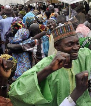 Chibok community members rejoice
