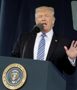 President Donald Trump delivers keynote address