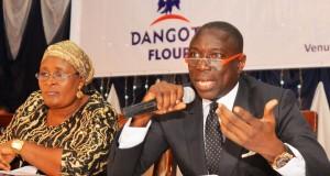 Asue Ighodalo, chairman, Dangote Flour Mills addressing shareholders