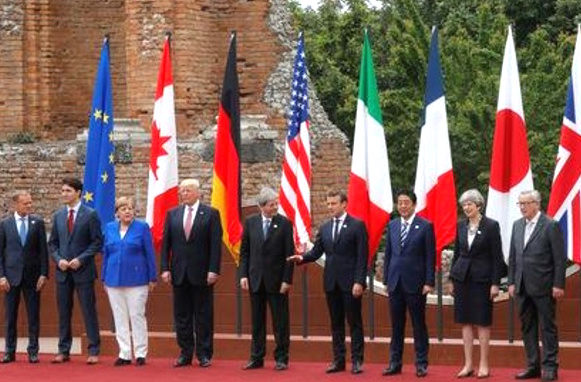 Climate change? Let me think about it, Trump tells G7