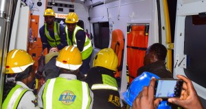 LASEMA officials attending to the injured