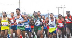 Contestants at the 5th Okpekpe 10km Road Race