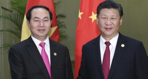 Vietnamese President Tran Quang and President Xi Jinping of China