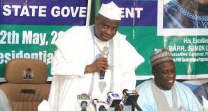 Gov. Tambuwal addressing a gathering in Sokoto