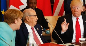 Trump , Merkel at the G7 Nations summit