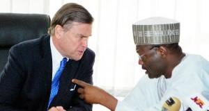 United States Ambassador to Nigeria, Stuart Symington and INEC Chirman, United States Ambassador to Nigeria, Stuart Symington
