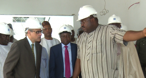 Rachid Benmessaoud, Country Director World Bank for Nigeria being conducted round the EFCC facility in Abuja