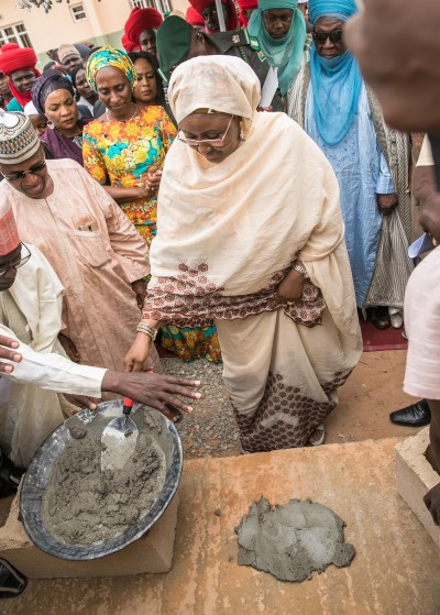 Aisha Buhari laying foundation