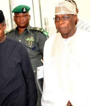 Acting President Yemi Osinbajo and former President Obasanjo