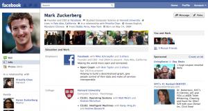 Mark Zuckerberg's Facebook page