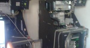 Vandalised ATM