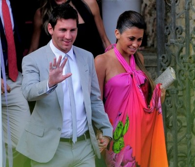 Messi and wife, Antonella Roccuzzo