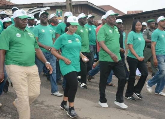 Gov. Amosun, Joe-Odumakin, others in pro-Democracy walk