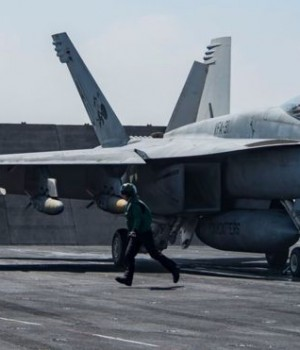 An F/A-18E Super Hornet (similar to the one pictured) shot down the Syrian army plane