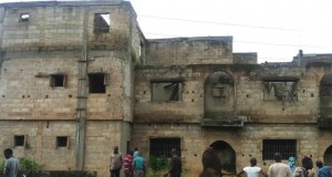 The building suspected to be kidnappers/ ritualist den