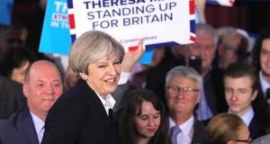 Theresa May campaigns