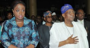 Kemi Adeosun and Lai Mohammed at the opening of the two-day Creative Industry Financing Conference in Lagos