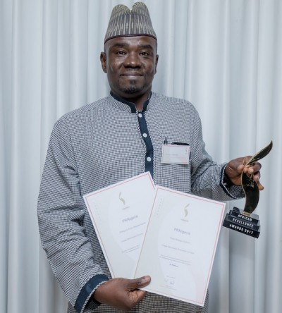 PRNigeria founder, Yushau Shuaib at the Award ceremony