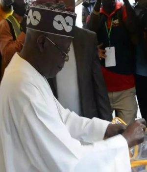 Tinubu casts his votes