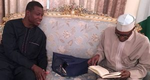 Pastor Adeboye and President Buhari in London